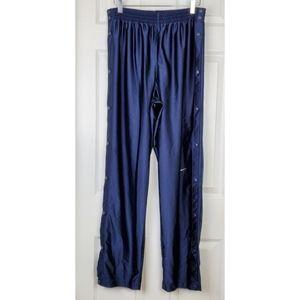 Nike full side snap leg navy blue track pants